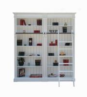 biblioteci albe cu rafturi