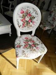 scaune cu flori