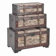 set cufere din lemn vintage